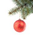 红色圣诞节的装饰 免版税库存照片