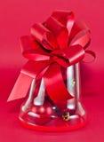 红色圣诞节礼品 免版税库存照片