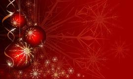 红色圣诞节背景 向量例证