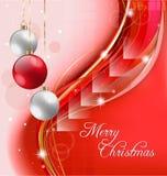 红色圣诞节背景 免版税库存图片