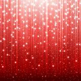 红色圣诞节背景 皇族释放例证