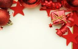 红色圣诞节背景 免版税图库摄影