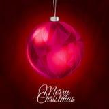 红色圣诞节背景 库存图片