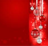 红色圣诞节节假日背景 向量例证