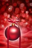 红色圣诞节装饰品 免版税图库摄影