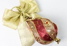 红色圣诞节装饰品2 库存照片