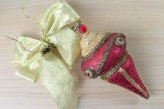 红色圣诞节装饰品4 库存图片