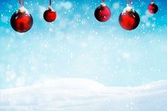 红色圣诞节装饰装饰 免版税库存图片