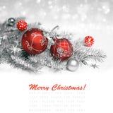 红色圣诞节装饰 库存图片