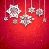 红色圣诞节设计 免版税库存图片