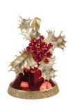 红色圣诞节铃声 免版税库存图片