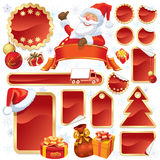 红色圣诞节销售额 库存图片
