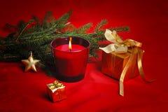 红色圣诞节 库存图片