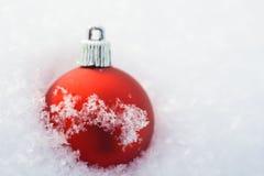 红色圣诞节deoration 库存图片