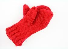 红色露指手套 库存图片
