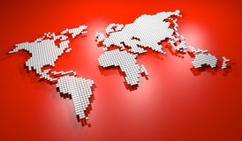 红色地图 向量例证