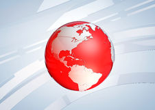 红色地球地球 免版税库存图片