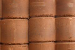 红色块砖纹理 免版税库存照片