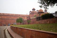 红色堡垒在德里印度 库存照片