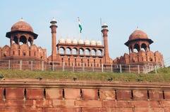 红色堡垒在德里 库存照片