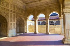 红色堡垒在阿格拉, Amar Singh门, 免版税库存图片