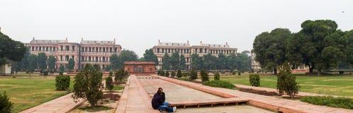 红色堡垒的全景在德里印度 库存图片