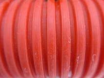 红色塑料条纹 免版税库存照片