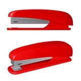 红色塑料订书机 免版税库存照片