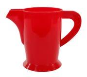 红色塑料水壶投手 库存照片