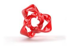红色塑料3d抽象对象 库存照片