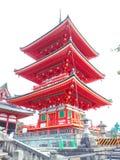 红色塔在京都 库存图片