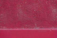 红色墙壁纹理 免版税库存照片