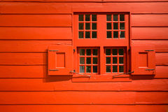 红色墙壁 免版税库存照片