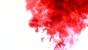 红色墨水在水中 摘要 库存照片