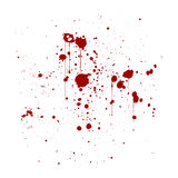 红色墨水泼溅物背景,隔绝在白色 图库摄影