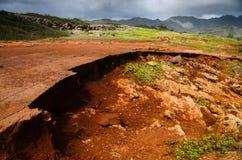 红色夏威夷土壤 库存照片