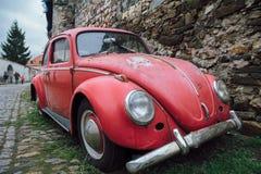 红色大众甲壳虫 库存图片