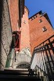 红色大厦细节和台阶在中央哥本哈根,丹麦11 梵蒂冈 免版税图库摄影