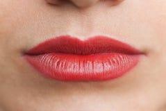 红色大的嘴唇 库存照片
