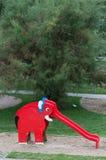 红色大象幻灯片 库存照片
