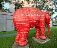 红色大象 免版税库存图片