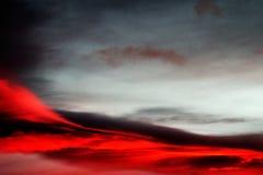 红色天空在2016年11月 免版税库存照片
