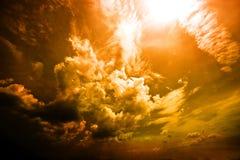 红色天空 免版税图库摄影