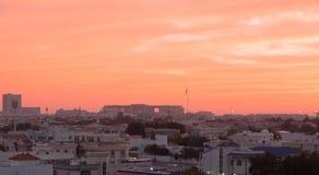 绯红色天空 库存照片