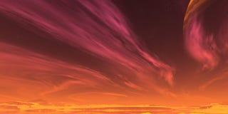 红色天空 免版税库存照片