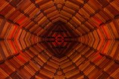 红色天花板现代抽象建筑学设计 免版税库存图片
