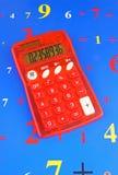 红色太阳计算器 免版税库存图片