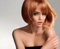 红色头发。 优质图象。 图库摄影