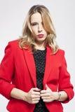 红色夹克 库存照片