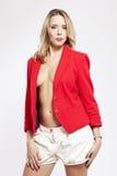 红色夹克 免版税库存照片